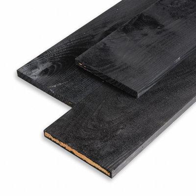 Planken 22 x 200 x 4500 fijnbezaagd zwart