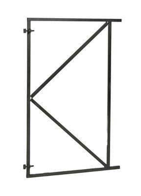 Verstelbare poortframe zwart gecoat 1000 x 1550 mm