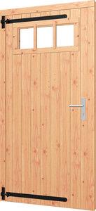 Opgeklampte deur enkel met bovenraam rechtsdraaiend (Artnr. 540061)