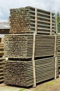 Boompalen rond 60 x 2500 mm geïmpregneerd