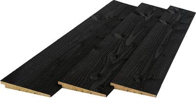 Planken 19 x 195 Zweeds rabat zwart gespoten diverse lengtes