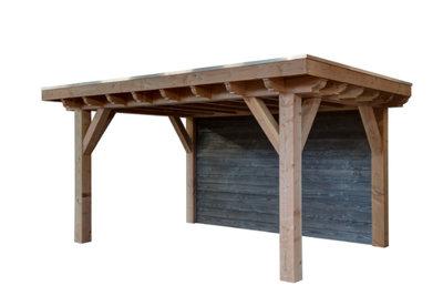 Douglas plat dak overkapping Exclusief 6000 x 3400 mm