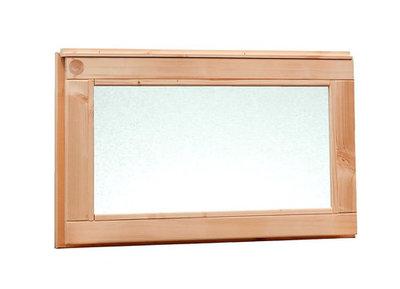 Douglas vast raam met melkglas