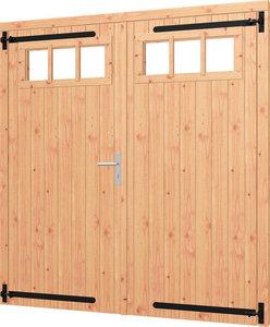 Opgeklampte deur dubbel met bovenraam (Artnr. 540058)